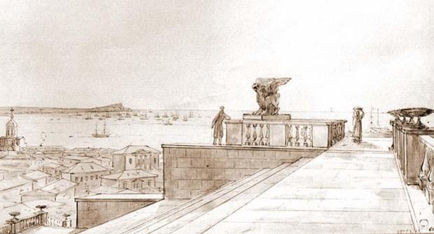 митридатская-лестница-.-Н.Г.Чернецов.-1836-г.
