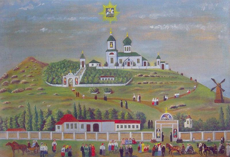 Катерлезский-Свято-Георгиевский-монастырь.-Холст-масло