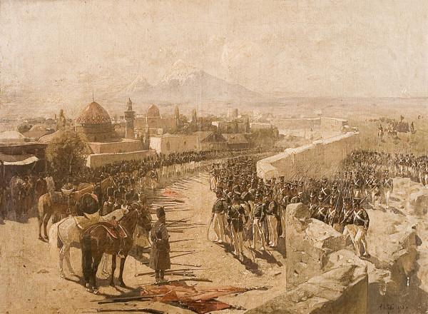 Франц Рубо.Сдача крепости Эривани 1 октября 1827 года