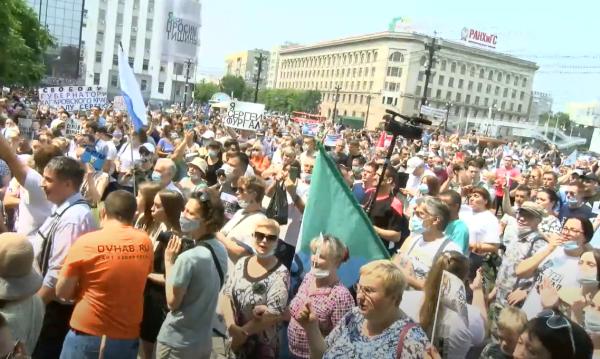 Хабаровск, 18 июля. 85 тысяч!! И политтехнологии от ФСБ