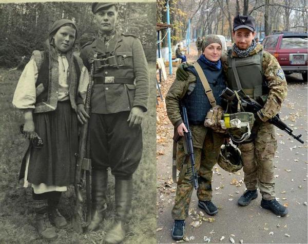 Задумайтесь над цими фото. Різниця в 70 років,а ворог той же.