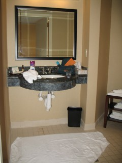 image of a bathroom sink and mirror