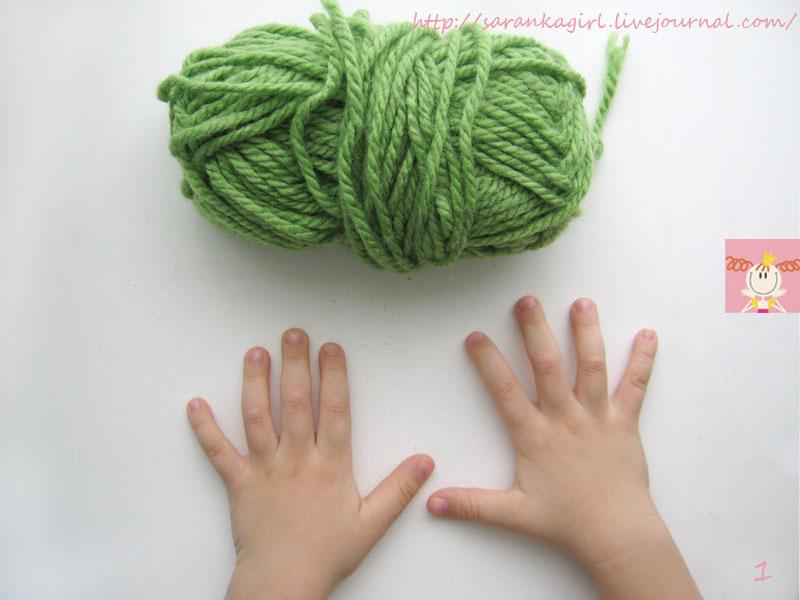 Примеры вязания на пальцах без использования спиц 3