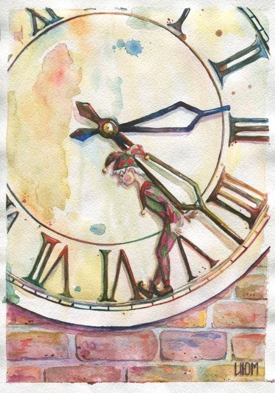 Сочувствие сострадание, рисунок чудесные часы