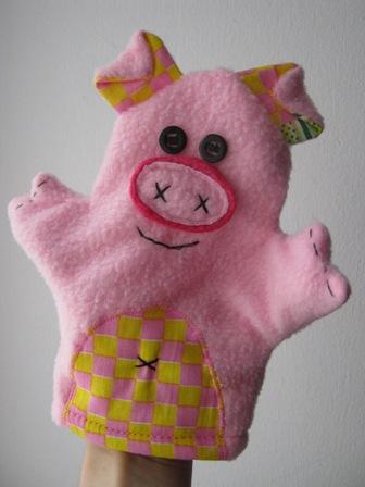 Кукла перчатка хрюша
