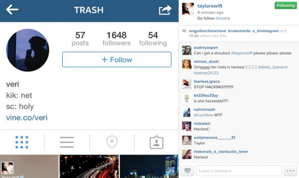 Taylor Swift S Twitter And Instagram Hacked Ohnotheydidnt Livejournal