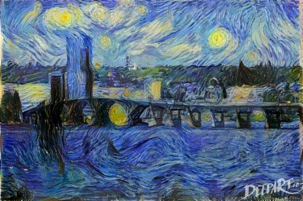 """Ван Гог """"Звездная ночь"""" http://deepart.io"""
