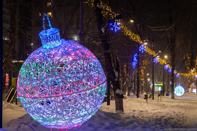Новогодний Саратов - 2019 иллюминация