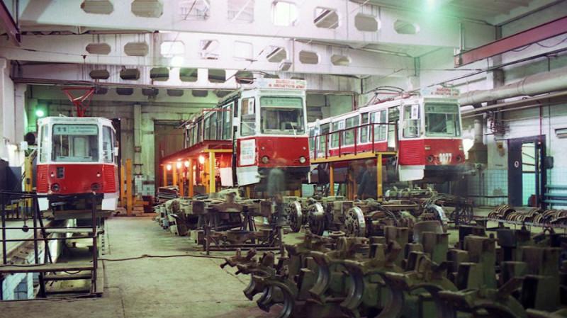 Ленинское трамвайное депо, 1997 год. Фото: Joachim Kaddatz