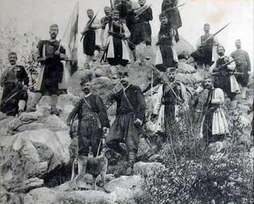 Štab jedne Crnogorske jedinice na lovćenskom položaju 2