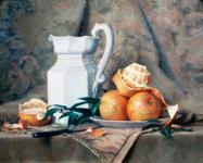 White Pitcher and Oranges_187x150