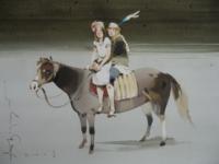 Аруш Воцмуш - Лошади и сахарная вата. Акварель 51х73_ 2008_200x150