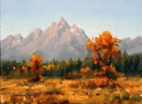 Jessica Garrett Autumn Tetons oil 6x8 $420_200x147