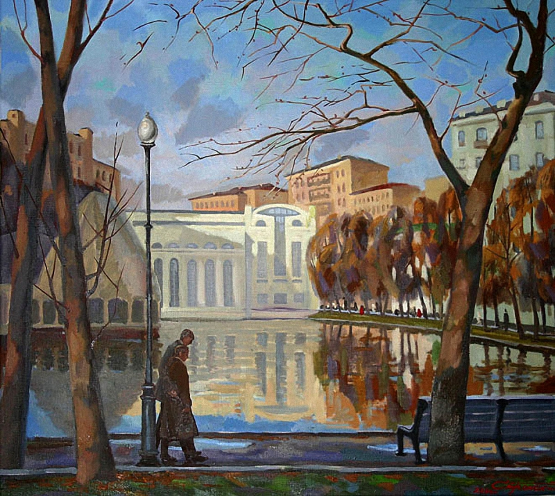 Peter Stronsky. Moscow. The Pure Ponds boulevard
