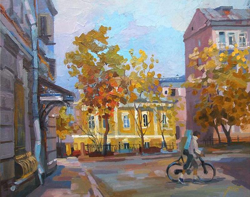 Чижова Виктория. Москва. Осень на Рождественском бульваре.