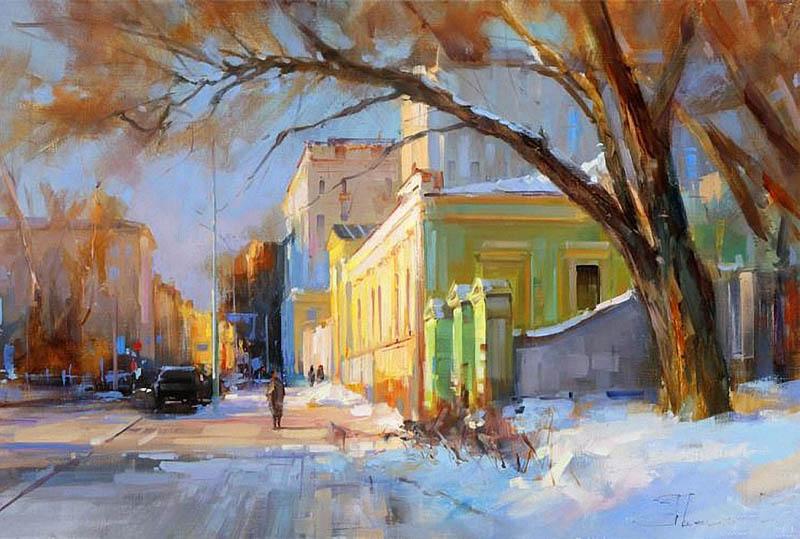 Шалаев Алексей. Солнце жжет снег. Страстной бульвар