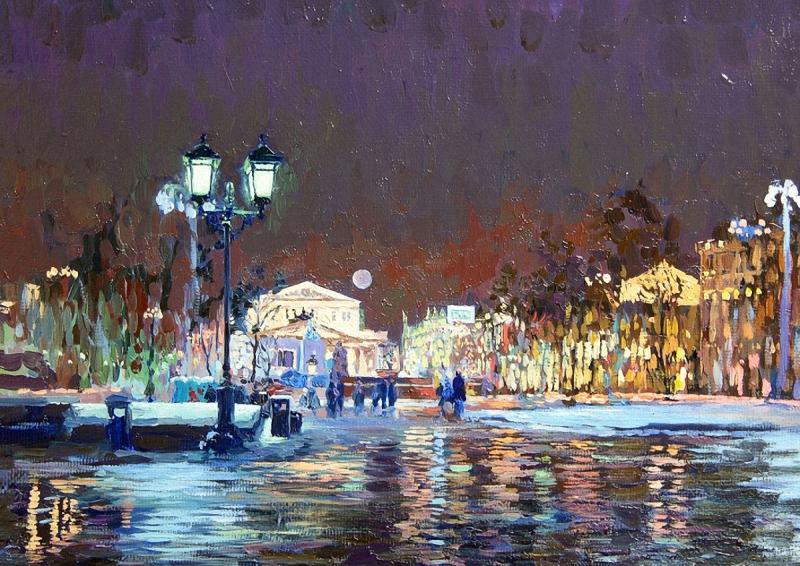 «Ночная Москва. Большой Театр. Семён КОЖИН.2005.»