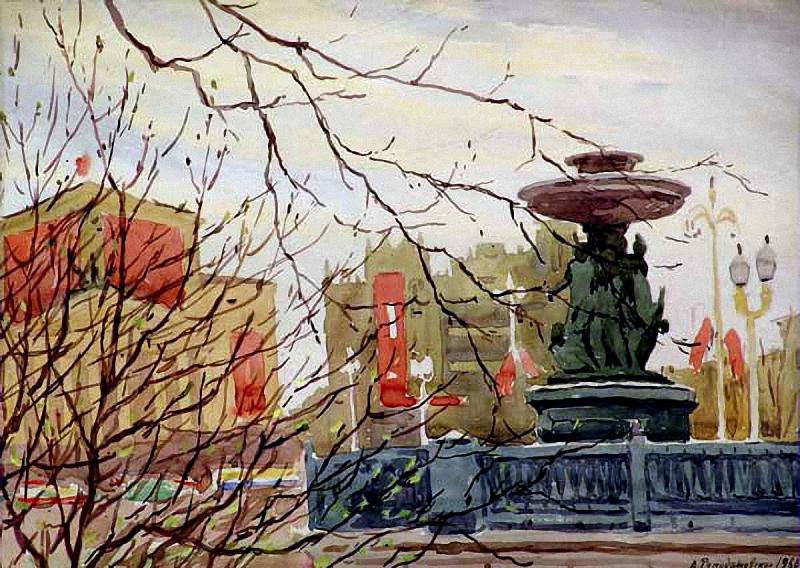 А. А. Ромодановская. Москва. Весна. 1960.