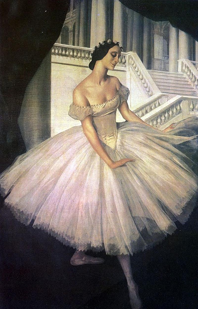 А.Е.Яковлев. Портрет балерины Анны Павловой. 1922–1924