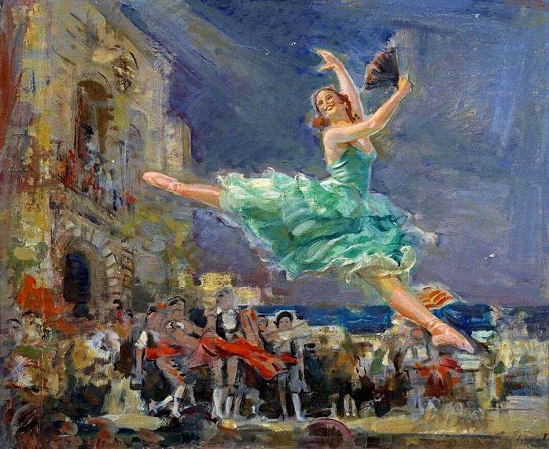 Луппов Сергей. Майя Плисецкая в Дон Кихоте. Танец Китри. 1950