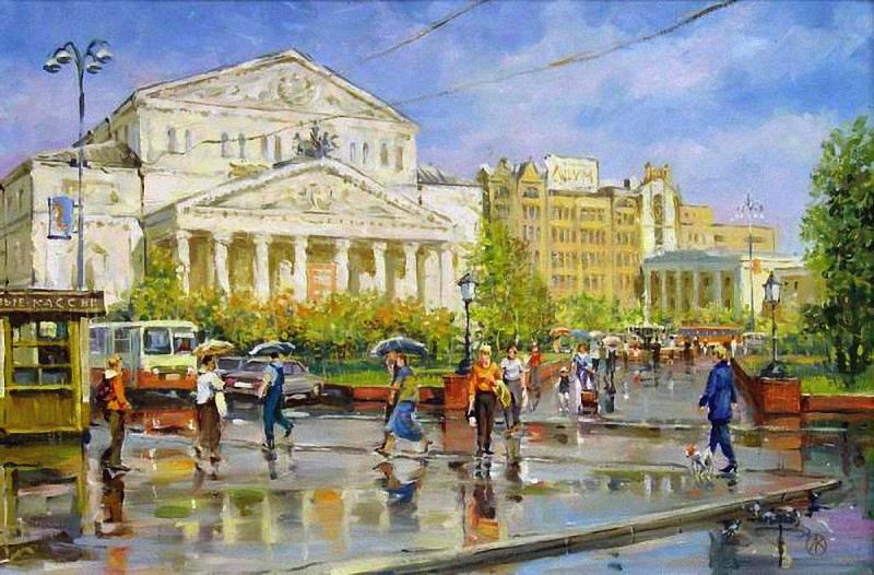 Орлов В. Театральная площадь. После дождя