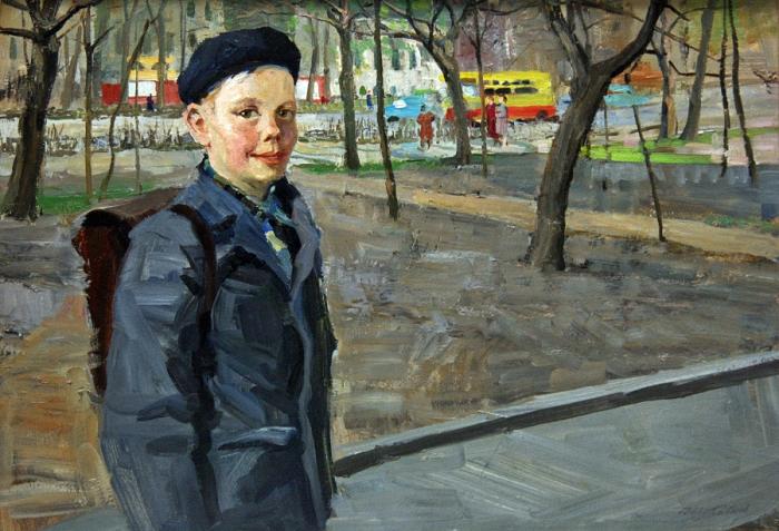 Sergei Fedorovich Babkov - Portrait of a Student, Kosmya Blaggovich Cheyski 1963