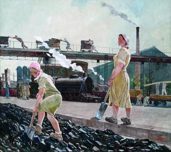 Александр Дейнека. Донбасс 1947