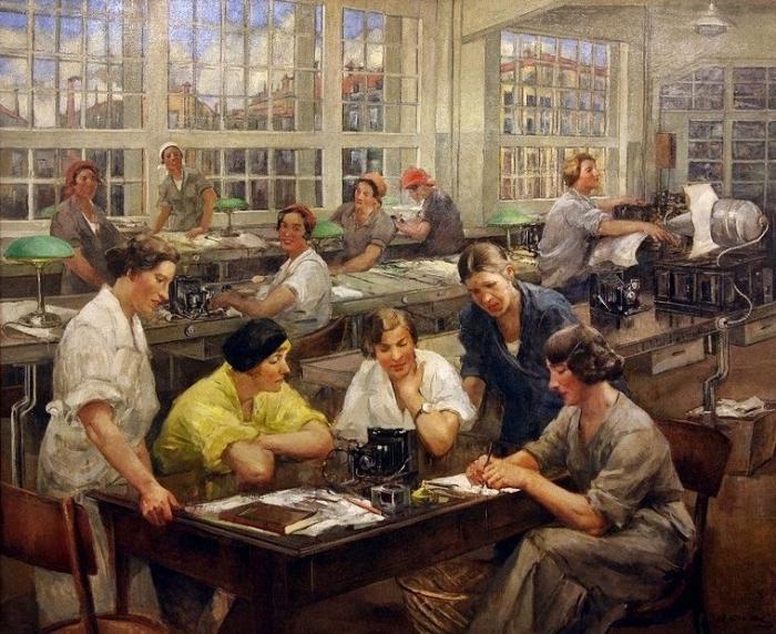 Тихов Виталий Гаврилович (Россия, 1876 - 1939) «Стахановки завода им. ОГПУ»