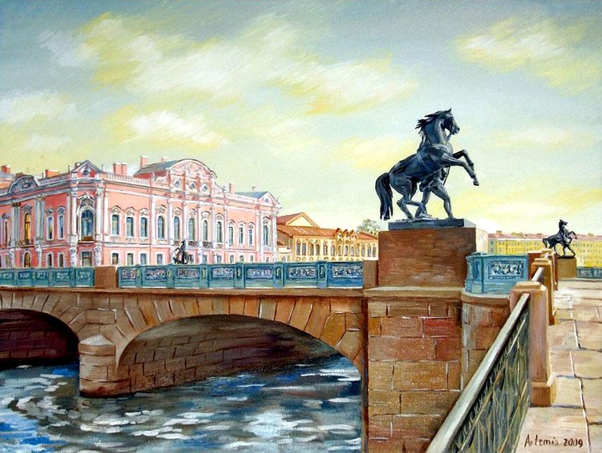 Фотография : фото 5655 Аничков мост (Санкт-Петербург, Россия) .
