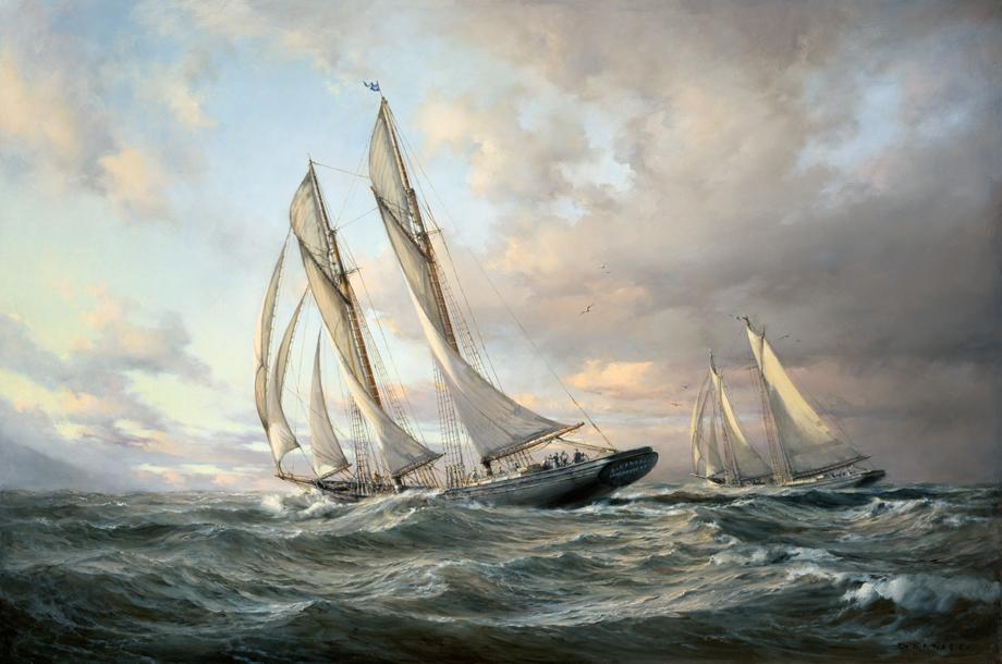 Dusan Kadlec - Heading for Home - The Schooner Bluenose at Sea