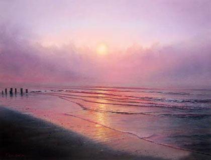 Kenevan-pastel-sea-scape-painting-Seduction-Folly-Beach