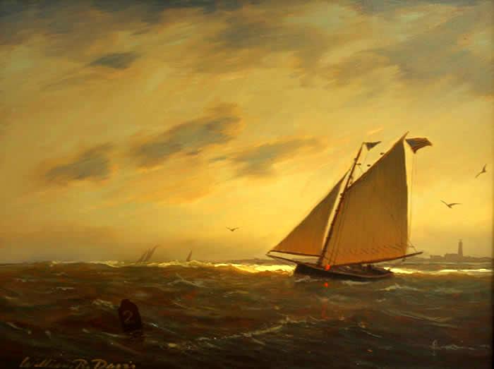 sunset_catboat