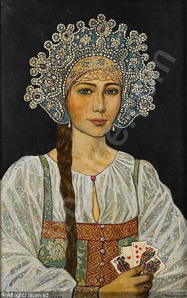 glazunov-ilya-1930-russia-portrait-of-a-russian-beauty-1683883