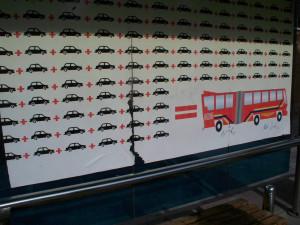 Социальная реклама на автобусной остановке