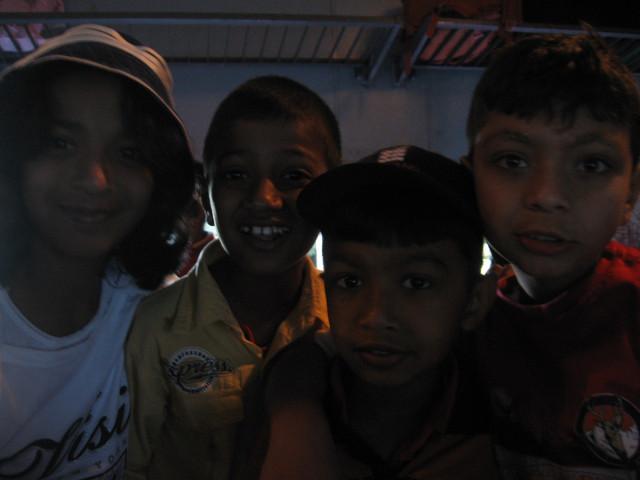 Children in Sri Lanka train
