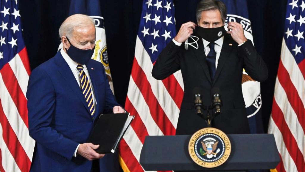 Президент США Джо Байден и госсекретарь Энтони Блинкен