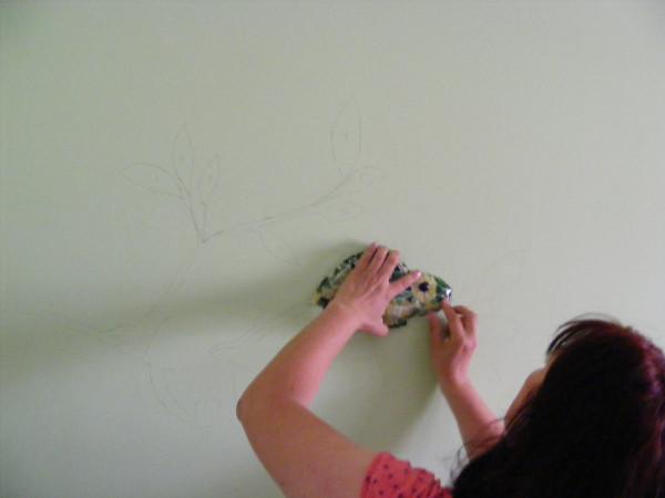 Как сделать мозаику на стене. Мастер-класс 21296