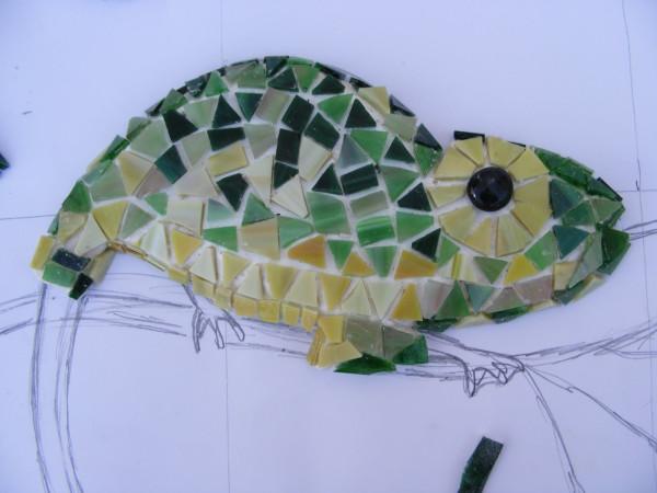 Как сделать мозаику на стене. Мастер-класс 30773