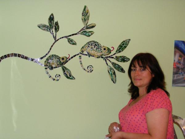 Как сделать мозаику на стене. Мастер-класс 42701