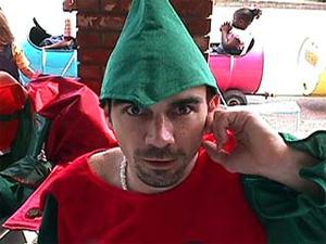 Yes, Santa's elves have facial hair.