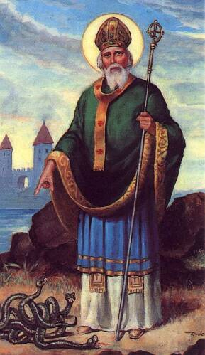 St. Patrick, banishing the snakes.