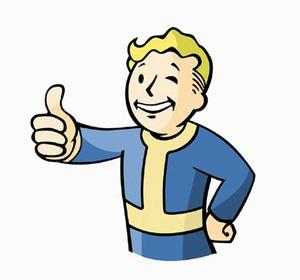 Vault Boy, the iconic mascot for the Fallout game series.
