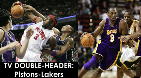 B-B-B-B-Ben . . . and KOBE!  Pistons-Lakers Double-Header!