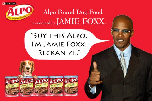 Jamie Endorsing Alpo.