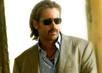 This is probably the last time you will see Colin Farrell with a mullet.