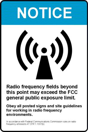 Remember never to exceed the FCC general public exposure limit.