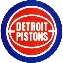 Old School Detroit Pistons Logo.