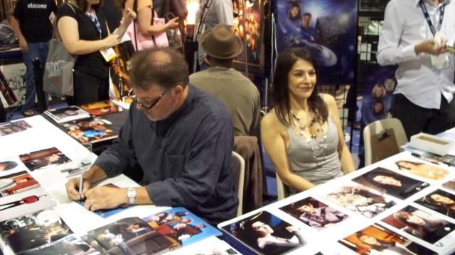 J. frakes and Marina Sirtis of Star Trek the Next Generation fame