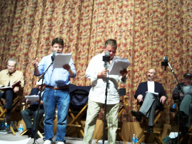 Sean Astin and William Shatner in a Radio Production/Play