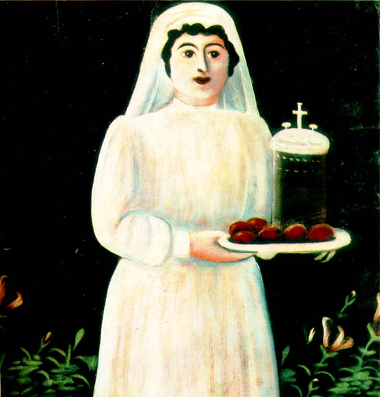 Женщина с подносом